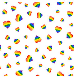 lgbt flag heart seamless pattern vector image