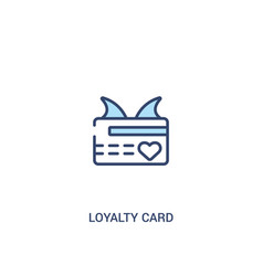 Loyalty card concept 2 colored icon simple line vector