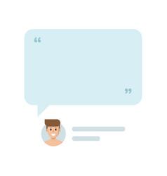 man social media profile and empty block vector image