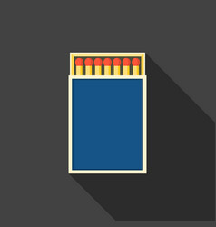 match box and matches icon vector image
