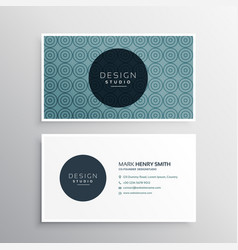 modern business card template with pattern vector image