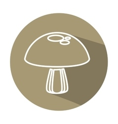 Mushroom vegetarian food icon vector