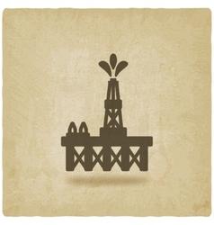 oil platform symbol vector image