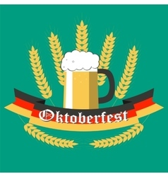 Oktoberfest Poster Style Flat vector image