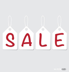 Paper price tags design vector