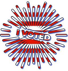 patriotic 2020 voting poster presidential vector image