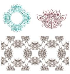 Peacock Pattern vector