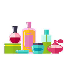 perfumery collection bottles vector image