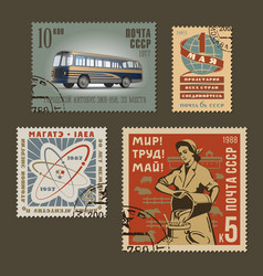 Postage stamps 1 vector