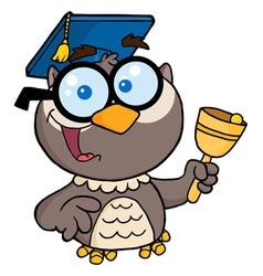 Professor Owl Ringing A Bell vector image