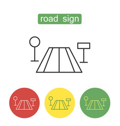 Road sign outline icons set vector