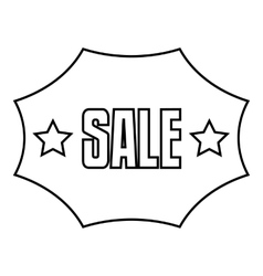 Sale sticker icon outline style vector