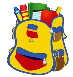 School satchel vector