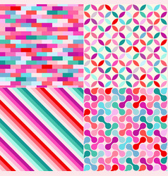 seamless colored geometric pattern background vector image