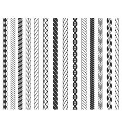 seamless rope pattern set vector image