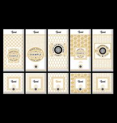 Set design elements labels icon vector