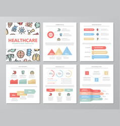 set of colored medical and healthcare elements for vector image
