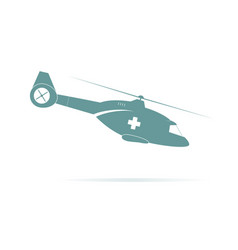 silhouette of helicopter vector image