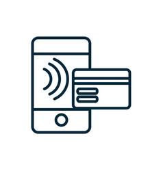 smartphone bank card transaction internet of vector image