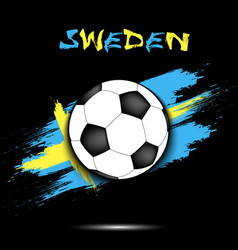 soccer ball and sweden flag vector image