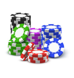 stack or heap pile or tower casino chips vector image