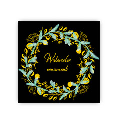 Summer vintage floral greeting card with blooming vector