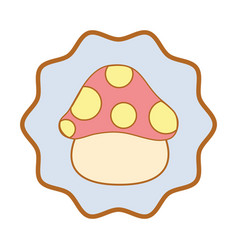 Symbol nice natural fungus art vector