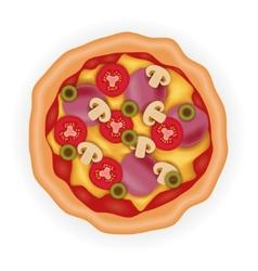 tasty pizza vector image