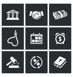The consequences of the credit icons vector image