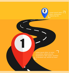 the road from point a to punt b way to success vector image