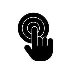 Touch by finger touchscreen icon vector