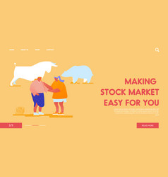 trading fund stock market exchange landing page vector image