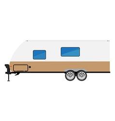 Trailer camper icon vector