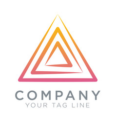triangular logo template symbol spirit vector image