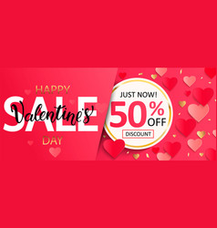 valentines day sale gift card vector image