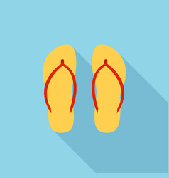 Vietnam slippers icon flat style vector