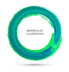 watercolor color circle texture ink round stroke vector image