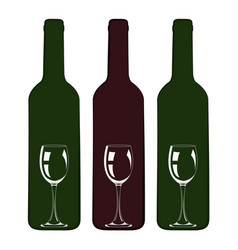 Wine design bottle with glass inside icon vector
