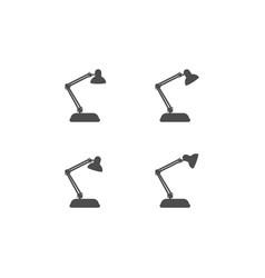 Work desk lamp design vector
