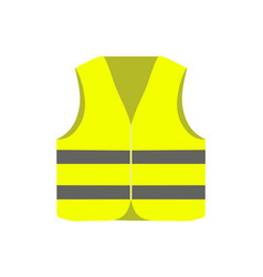 yellow safety vest isolated on white background vector image
