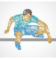 Abstract athlete jump vector image vector image