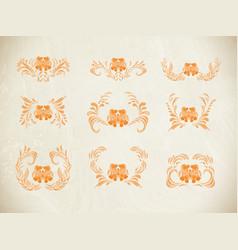 autumn flowers set vector image vector image