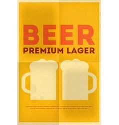 beer poster vector image vector image