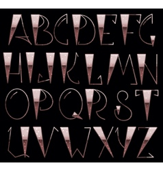 Complete English Alphabet vector image vector image