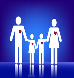 Family with heart vector image