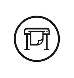 plotter icon on a white background vector image