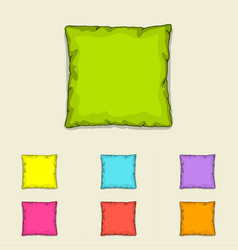 bed pillow templates set of multicolored pillows vector image