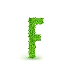 Green Leaves font F vector image vector image