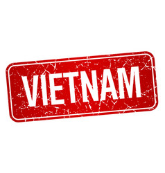 vietnam red stamp isolated on white background vector image vector image