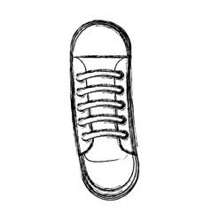 cute sketch draw shoe cartoon vector image